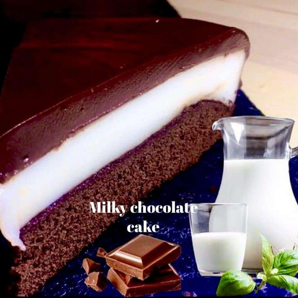 chocolate and milk cream cake