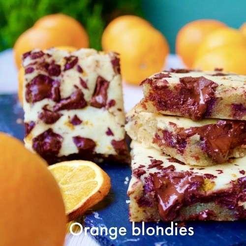orange blondies